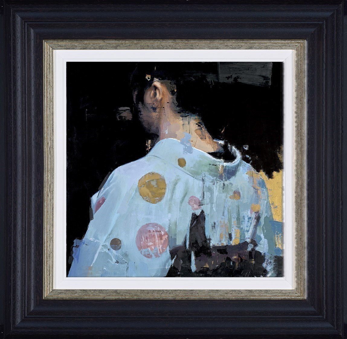 Kimono Blues by Christian Hook - Limited Edition Paper on Board sized 14x14 inches. Available from Whitewall Galleries